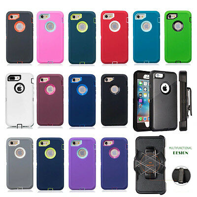 For Apple iPhone 7 & 7 Plus Case Cover {Belt Clip fits Otterbox Defender}