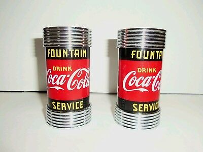 Coca-Cola Salt And Pepper Shakers Advertising  1997