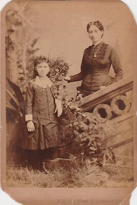 Cabinet Card Mother No Hand Right & Daughter,id Sanderson,of Baltimore,maryland