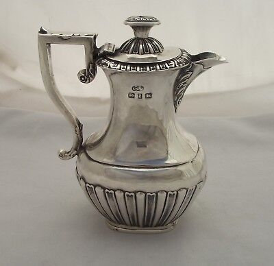 Solid Silver Hot Water / Cream Jug - Birmingham 1898 - Small Bachelor Size