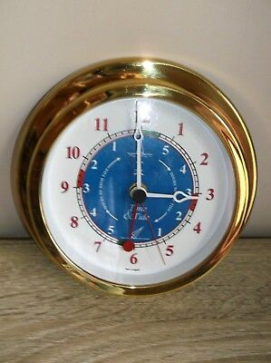 hermle brass ships type Clock with low and high tide timer Nautical