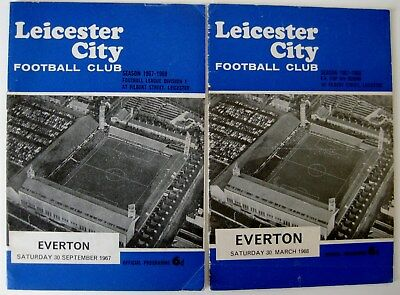 Leicester City v Everton 1967/68 Div. 1 & FA. Cup R6. - 2 programmes.
