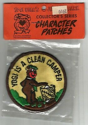 """Yogi Bear Is A Clean Camper Patch Vintage New Old Stock 3"""" Free Usa Shipping"""