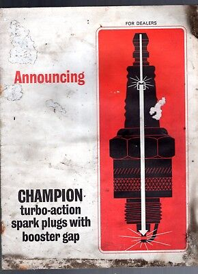 1966 Champion Turbo-Action Spark Plugs With Booster Gap Sales Brochure-12 Pages