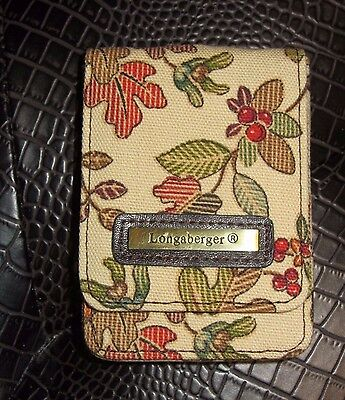 Longaberger BUSINESS Card Holder  CREDIT Card CASE  for purse ~ AUTUMN PATH New