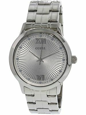 09b16e6926ce Guess Women s U0634L1 Silver Stainless-Steel Japanese Quartz Dress Watch