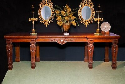 Large Antique Stately Home English Table in Mahogany