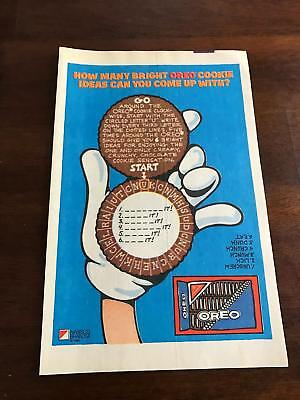 Oreo Doll Nabisco Cookie Advertising Promo Premium Toy In Box Vintage 80's Traveling Advertising