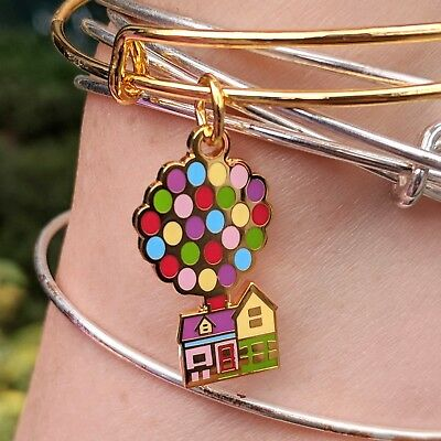 UP Balloon House Gold Charm Bracelet 2018 Disney Parks Pixar Fest Alex & and Ani