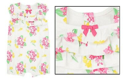 51912e93b5d  SPRING DRESSY  NWT Gymboree Baby Girl Floral Ruffle Bubble Romper 3 6 12 18