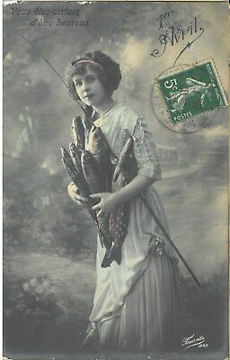 Carte postale Fantaisie 1er avril 1913