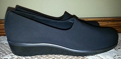 SAS Bliss Women's Black Stretch Fabric Upper Wedge 7.5 N Made in USA