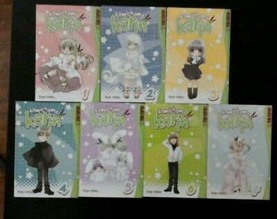 Kamichama Karin manga complete set Tokyopop English series volumes 1-7