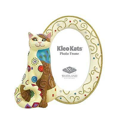 "Kleo Kats SITTING PRETTY CAT Photo Frame NIB Retired Few Left 1.5 x 2.5"" Picture"