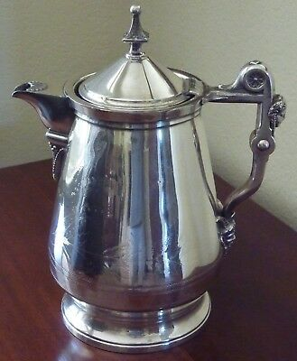 Stimpson Aesthetic Silverplate Water Pitcher Jug Satyr Double Wall Meriden 1868