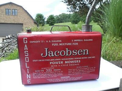 Vintage Jacobsen power mowers 2.5 gal. Gas Can- EXCEPTIONALLY NICE 1940'S