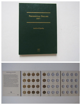 "Presidential Dollar Coins, 2007-2011, 20 Pieces + Stock Book, All ""P"" Mint !"