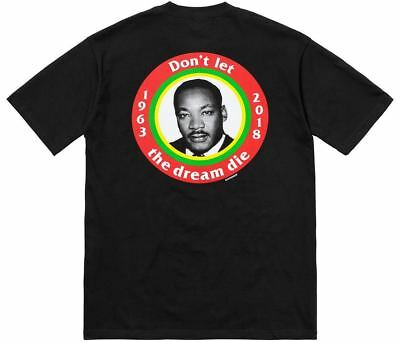 4c18d3bc9270 Supreme SS18 Dream Tee BOX LOGO MARTIN LUTHER KING JR SHIRT TV CARDS MLK  DIAMOND