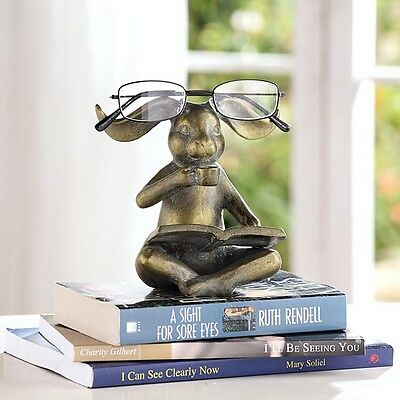 Reading Rabbit Bunny Eyeglass Stand,5.5''h.