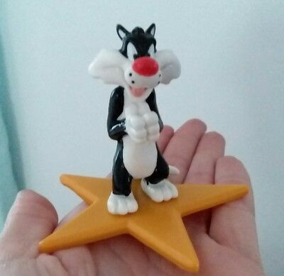 Vintage Applause Looney Tunes Sylvester Waiting Star Base PVC Figure