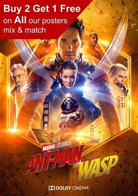 Antman And The Wasp Dolby Movie Poster A5 A4 A3 A2 A1
