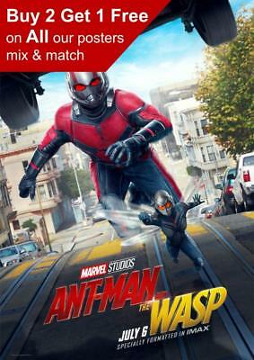 Antman And The Wasp Imax Movie Poster A5 A4 A3 A2 A1
