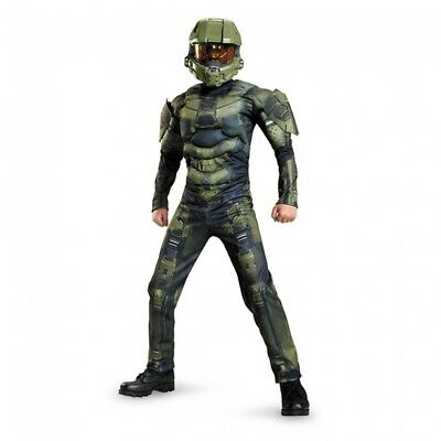 Halo Master Chief Child Costume Boys Girls Halloween 3D Muscle Jumpsuit New