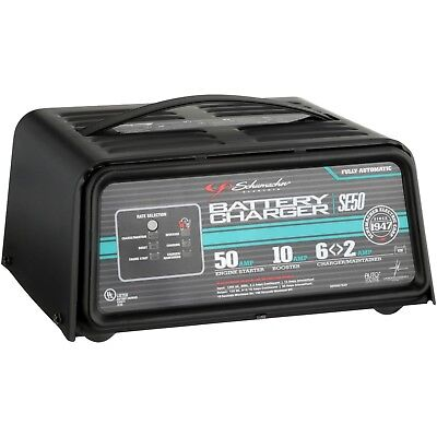 Schumacher 12V Fully Automatic Battery Charger Portable Car Starter Booster New