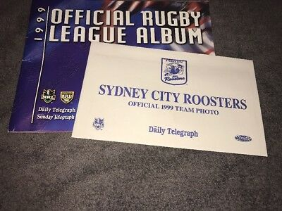 1999 Daily Telegraph Rugby League Sticker Album- Sydney Roosters Team Sticker