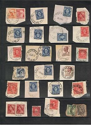 Selection Of N.s.w. Postmarks On Pre-Decimal Stamps.