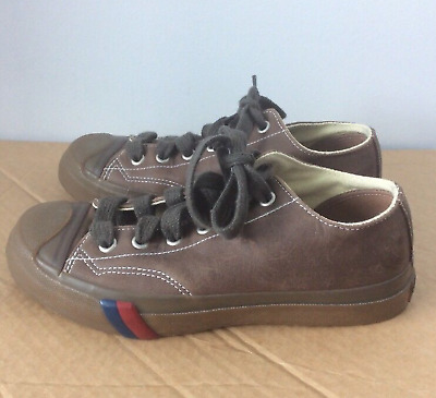 Pro-Keds Brown Leather Low Top Shoes - 38 Unisex