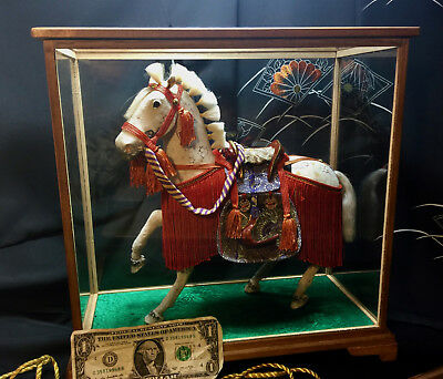 XL Early Majestic SHOW HORSE*MANE STYLED FOR SHOW*ORNATELY DRESS*Japan w/CASE*