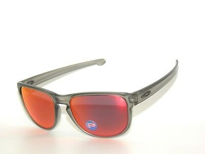15813602e6 SALE~OAKLEY SLIVER R 9342-03 MATTE GREY INK TORCH IRIDIUM POLARIZED  SunglasseS