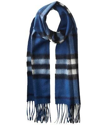 NEW 100%  Authentic  Burberry Kid's Check Cashmere Scarf Blue