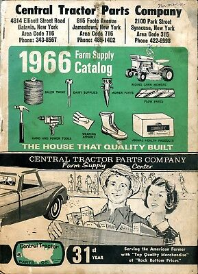 1966 Central Tractor Parts NY Catalog Vintage John Deere Farmall Fordson IH