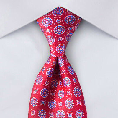 "NEW Lavish Blue Red BRIONI Tie Silk  59.5""x 3"" Men's Italy Pair w/Navy suit"