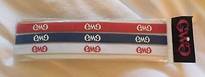 Girls With Guns Headbands Pack Of 3 Red White Blue Stretch GWG BRAND NEW