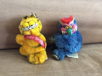 Vintage My Pet Monster & Garfield Clip Ons