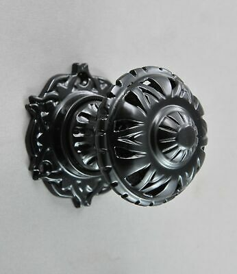 CENTRE DOOR KNOB-FANCY FILIGREE STYLE-FIXED SOLID BRASS-Victorian-front entrance