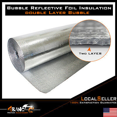 Bubble Double Foil Attic Home House Roof Wall Heat Insulation Reflective