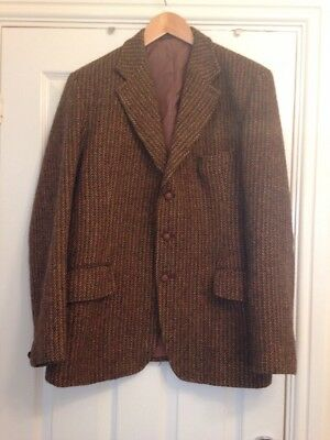 Vintage 1970's Harris Tweed Wool Sports Jacket