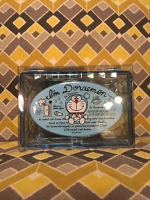 Yume Twins Doraemon Small Trinket Box Clear Plastic Sanrio Kawaii Japan Storage