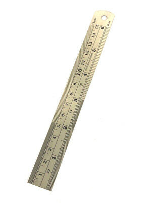 15cm 6 Inch Stainless Steel Ruler Rule Metric Imperial Double Sided Rulers