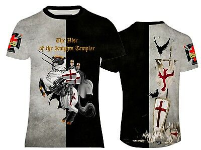 New Knights Templar Royal Crusader Teutonic Freemasonry Order T-Shirt Reg Fit