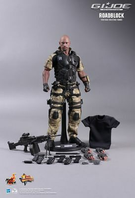 HOT TOYS Dwayne Johnson Roadblock GI JOE Retaliation Figur OHNE VERPACKUNG 30 cm