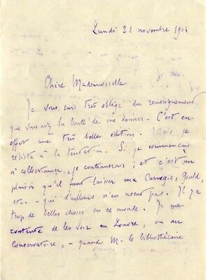 Romain Rolland NOBEL PRIZE FOR LITERATURE autograph, handwritten letter signed