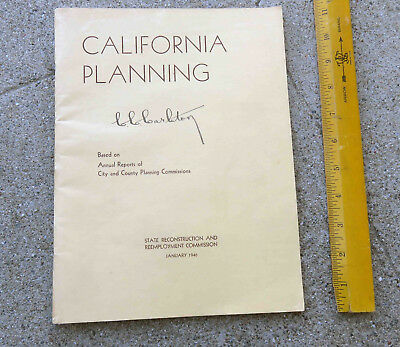 Original Jan 1946 California Planning. Based on Annual Reports of City & County