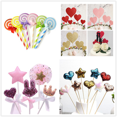 Glitter Cake Topper Party Supplier Happy Birthday Candle Gift-Decoration
