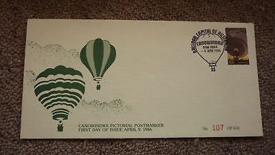 Old Hot Air Balloon Flight Cover, 1986 Canowindra First Day Of Balloon Pm