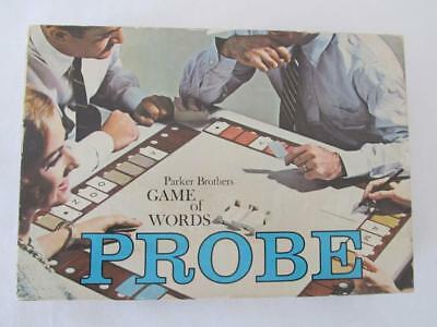 Vintage 1964 PROBE Parker Brothers Game Of Words COMPLETE Board Game